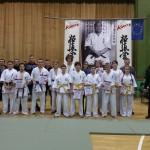 Grupowe zdjęcie klubów Fighter Nowe Miasto n/W, Jarociński i Poznański Karate Kyokushin